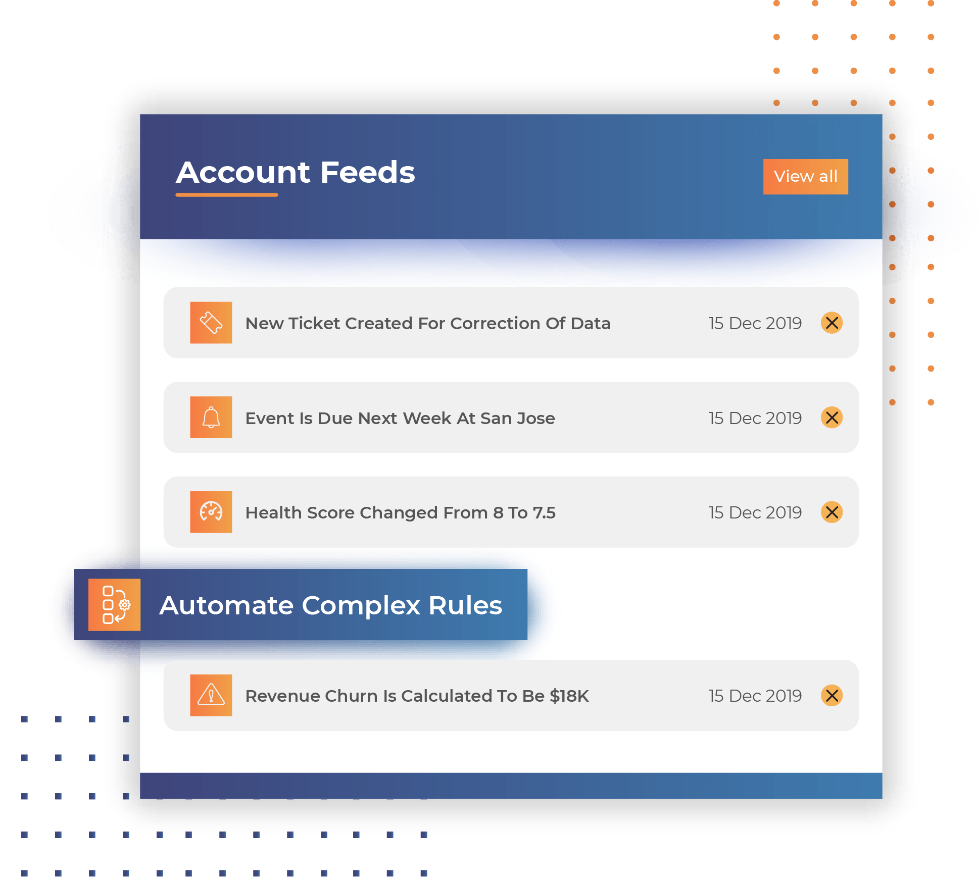 Automated account feed