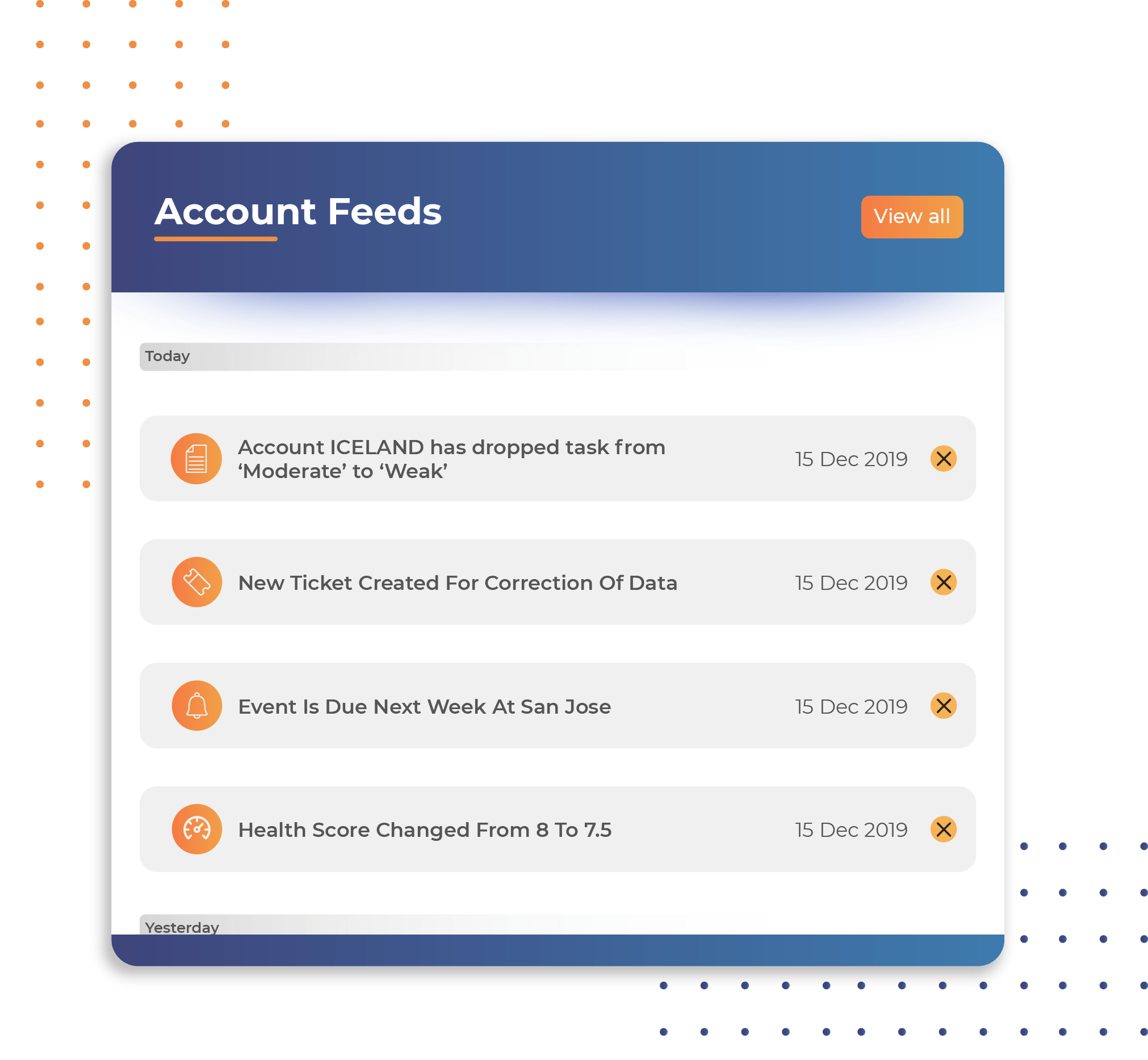 Task account feeds