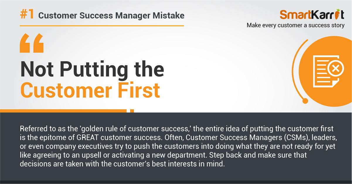 customer success mistake