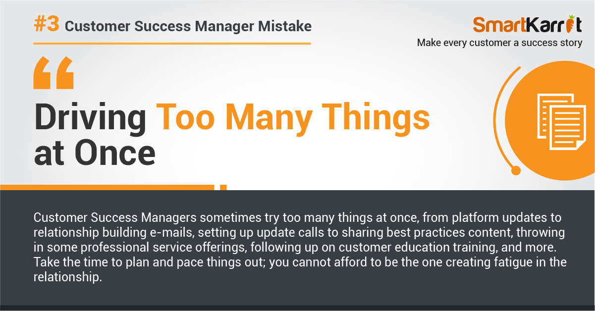 top customer success mistake
