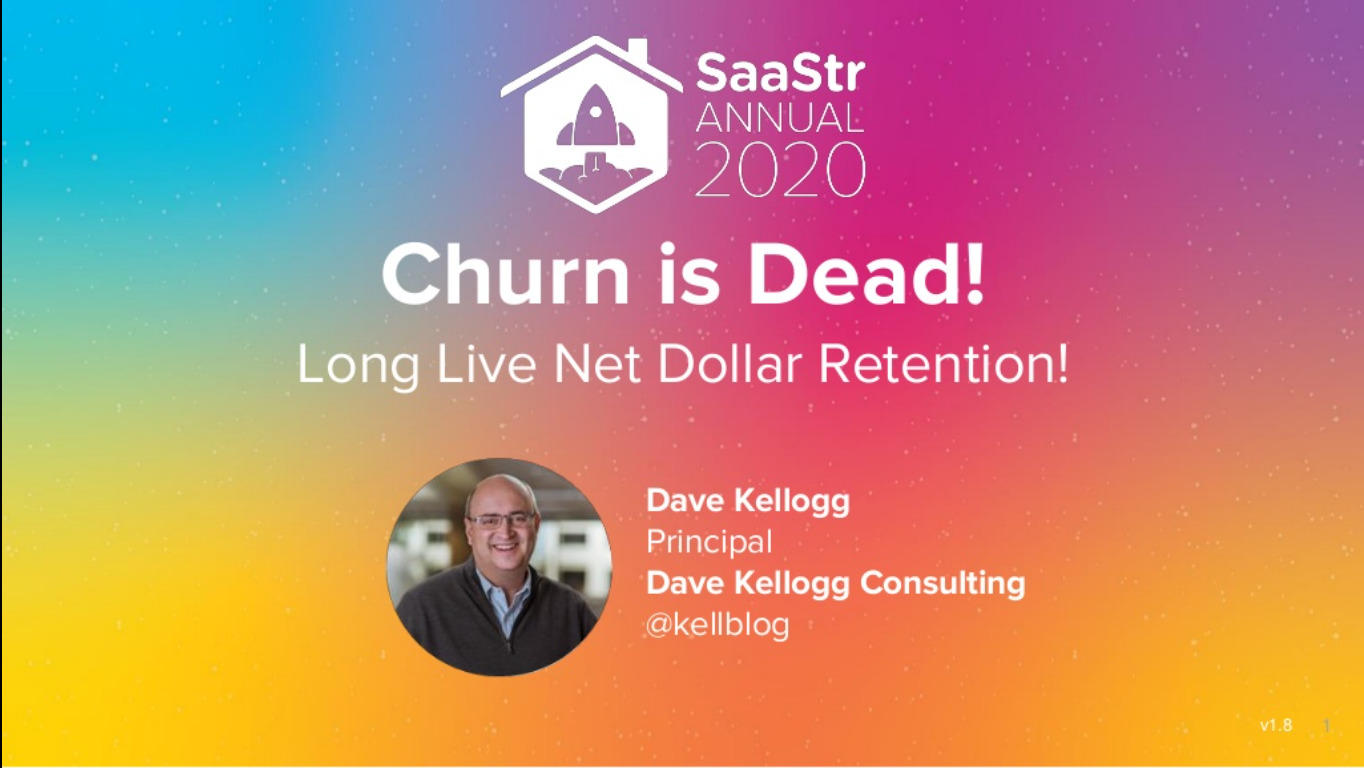 SaaStr annual 2020 - churn is dead