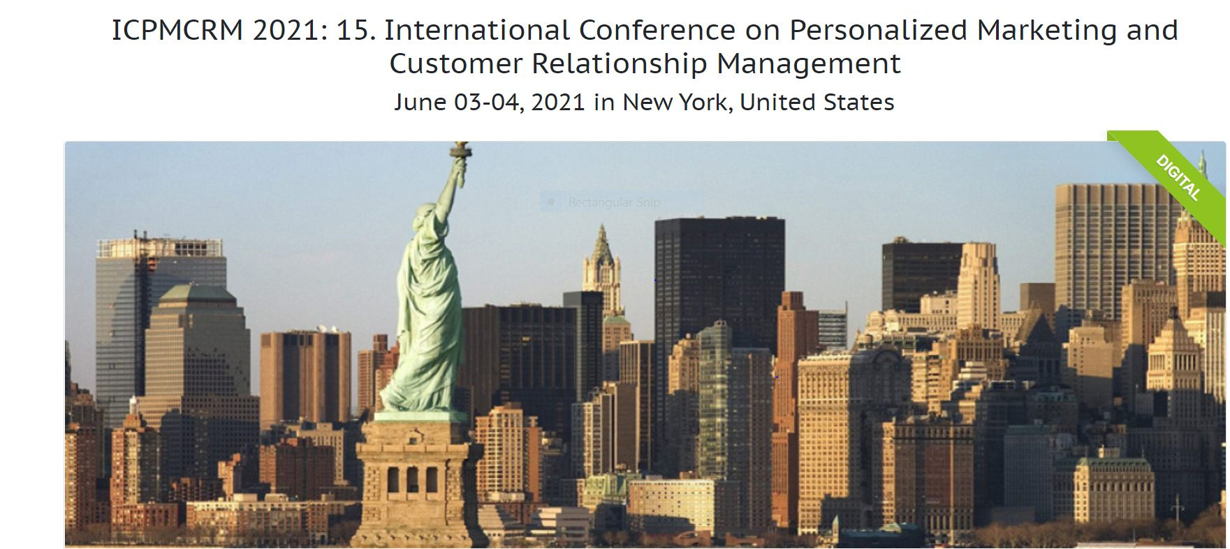 International Conference on Personalized Marketing and Customer Relationship Management