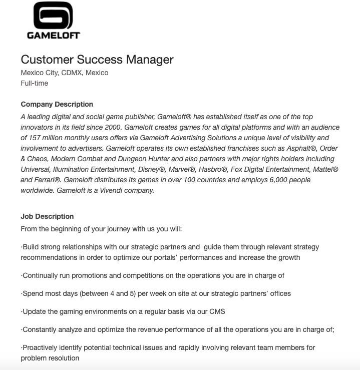 Customer Success Manager Job Description Template