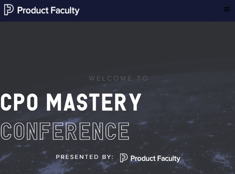CPO Mastery Conference - Product management conference