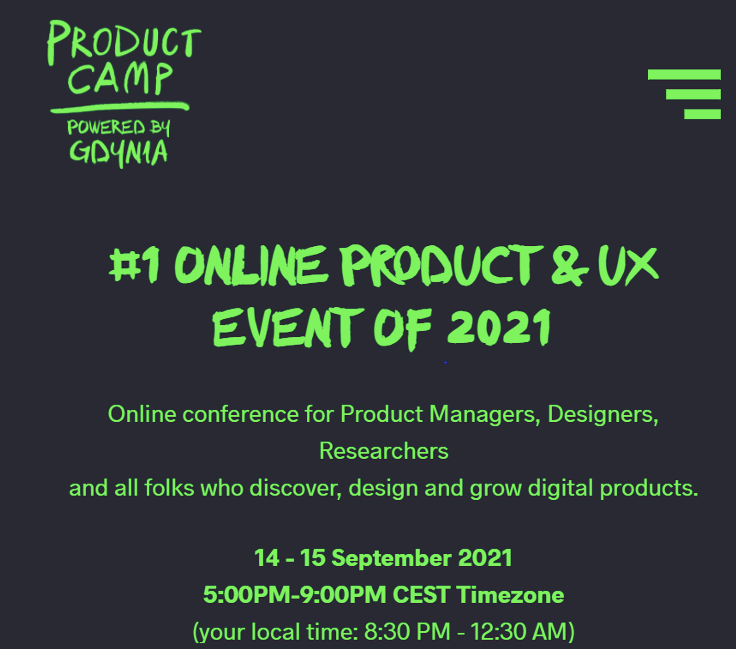 Product Camp 2021